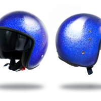Casque Jet Torx Up-Torx Glitter Bleu