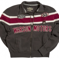 Gilet / Hoodies Warson Motors Track Carbone/rouge