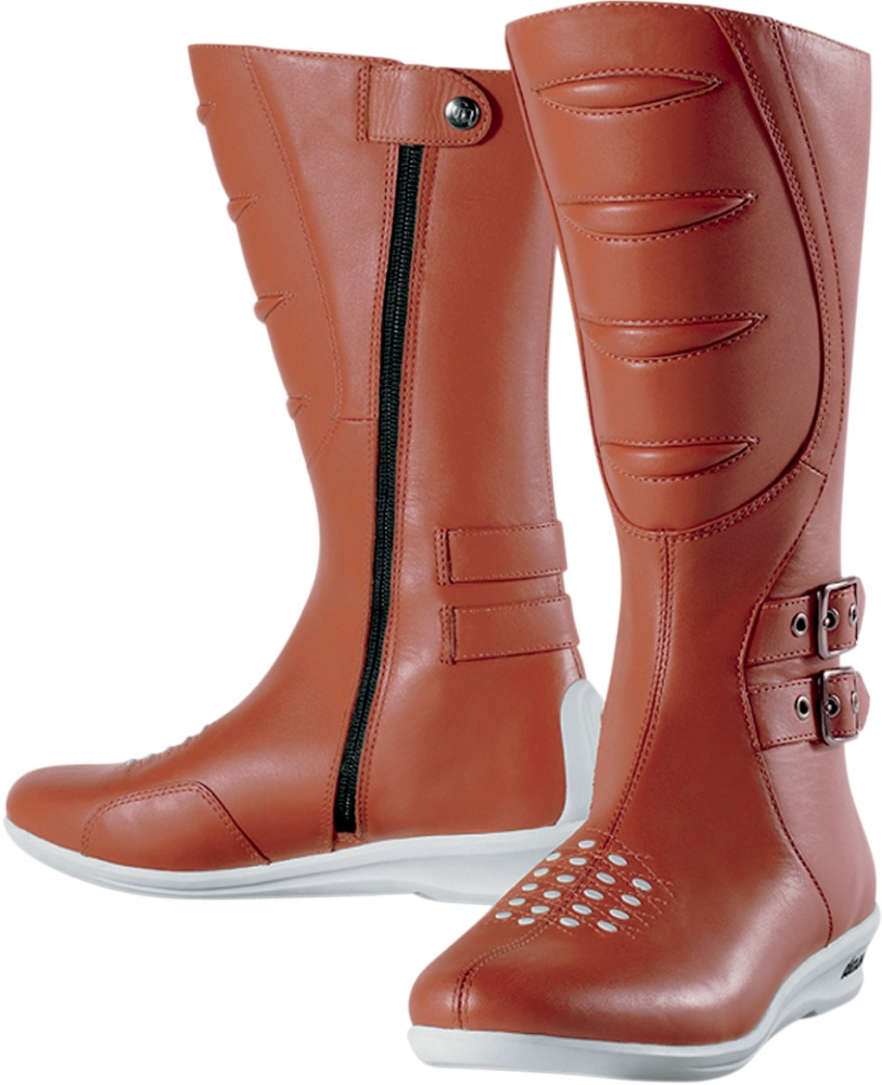 bottes cuir femme icon sacred tall boot noir ou marron - icon
