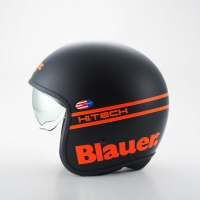 Casque Jet Blauer Pilot Noir / Orange Fluo