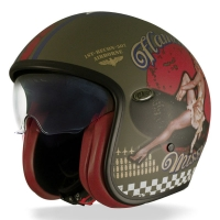 Casque Premier jet Vintage Pinup UP Military BM