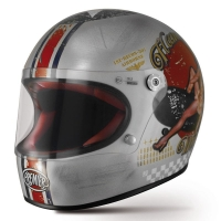 Casque Premier intégral Trophy Pinup Style Silver