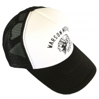Casquette Warson Motors Trucker Indian Black and White
