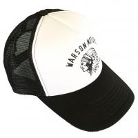 Casquette Warson Motors Trucker Indian Black and White
