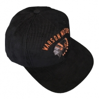 Casquette Warson Motors Indian Snap Noir / Orange