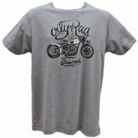 Tee-shirt Oily Rag Bobber Triumph Gris