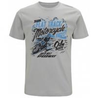 Tee-shirt Oily Rag Flat track Race Gris