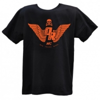 Tee-shirt Oily Rag Motorcycle Club Noir Orange
