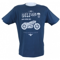 Tee-shirt Oily Rag Shed Build bleu