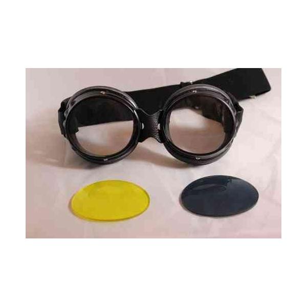 Lunettes cuir Aviator Goggle Biker - AVIATOR GOGGLE   Accessoire ... 272e0fe35a12