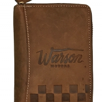 Porte Feuille Warson Motors Full Zip Cuir Tan