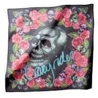 Foulard Skull Rose