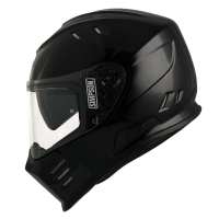 Casque Moto SIMPSON Venom Ghost Solid Noir Brillant