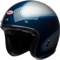 Casque Jet Bell Custom 500 Carbon RSD Candy Bleu Carbon Jagger