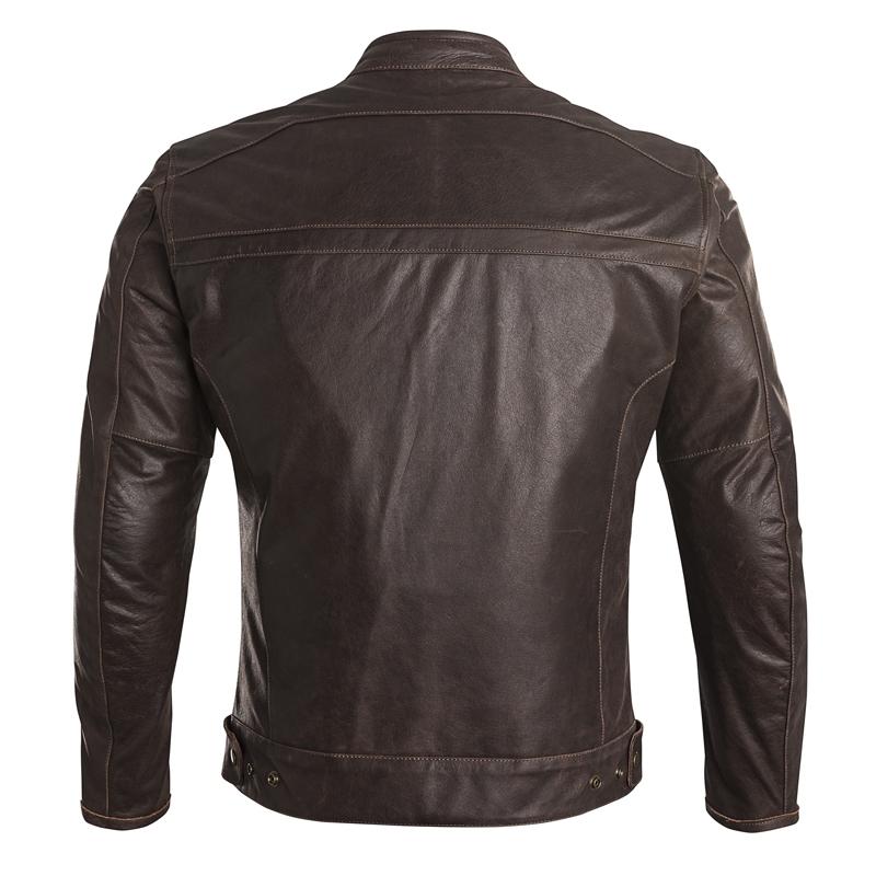 blouson cuir caf racer vintage marron eleveit blousons vestes cuir. Black Bedroom Furniture Sets. Home Design Ideas