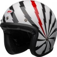 Casque Jet Bell Custom Custom 500 DLX SE Vertigo Gloss White/Black/Red