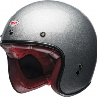 Casque Jet Bell Custom 500 Solid Silver Flake