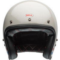 Casque Jet Bell Custom 500 Stripes Pearl Blanc