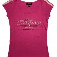 Tee-shirt Warson Motors femme Daytona 58 Rose