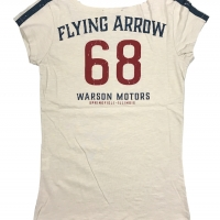 Tee-shirt Warson Motors femme Flying Arrow 68 Blanc