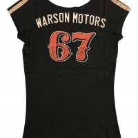 Tee-shirt Warson Motors femme High Speed 67 Carbone