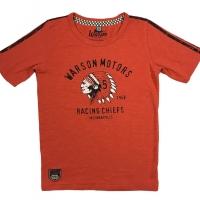 Tee-shirt Enfant Warson Motors Big Chief Orange