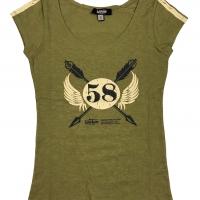 Tee-shirt Warson Motors femme Staff 58 Kaki