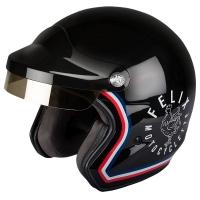 Casque Jet Félix Motocyclette ST520 Signature Noir
