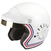 Casque Jet Félix Motocyclette ST520 Signature Blanc