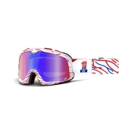 Lunette Masque 100PERCENT Barstow Death spray customs - Mirror red/blue lens