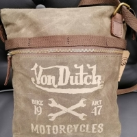 Sac Besace Von Dutch Canvas Cuir