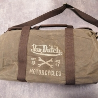 Sac de voyage Von Dutch Canvas Cuir
