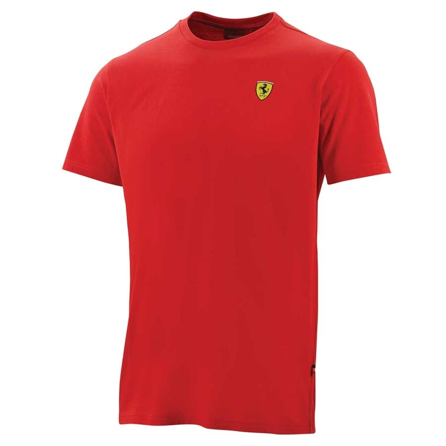 Tee shirt Ferrari Classic neck tee rouge - Ferrari   Tee-shirt   Homme 07cef64171d