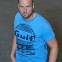 Tee-shirt Gulf Oil Racing Bleu