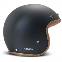 Casque Jet DMD Pilow Noir Mat / Marron