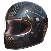 Casque Premier intégral Trophy Carbon NX Gold Chromed