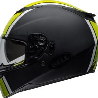 Casque Intégral Bell RS-2 Rally Noir Brillant Blanc Jaune Fluo