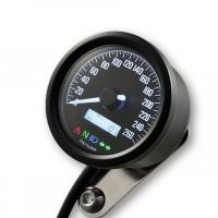 Compte Tour Daytona Velona 2 D60 260 km/h + Indicateur Noir