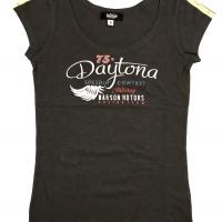 Tee-shirt Warson Motors femme Daytona Carbone