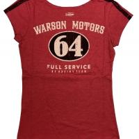 Tee-shirt Warson Motors femme Mustang Sally 64