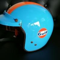 Casque Jet Gulf Bleu Pin Up