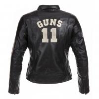 Blouson Cuir Guns Femme California Noir