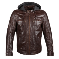 Blouson Cuir Guns Titus Marron