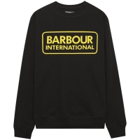 Sweet-Shirt Barbour International Noir Logo