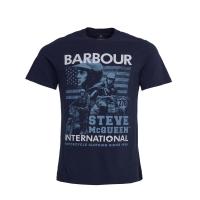 Tee-shirt Barbour Steve McQueen Collage Navy