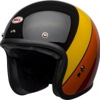 Casque Jet Bell Custom 500 DLX Riff Gloss Black/Yellow/Orange/Red
