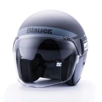 Casque Jet Blauer Pod Noir /Titane / Blanc Mat