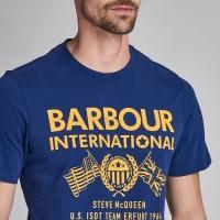 Tee-shirt Barbour Race Flag Steve Mc Queen