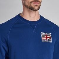 Sweet-Shirt Barbour International Team Flags Bleu