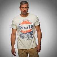 Tee-shirt Gulf Oil Racing Crème